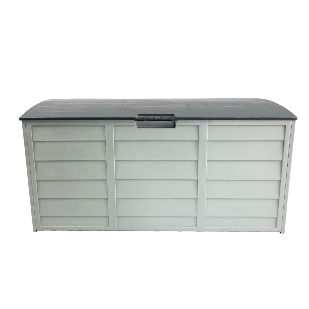 Grey Outdoor Storage Box 290l Large Capacity