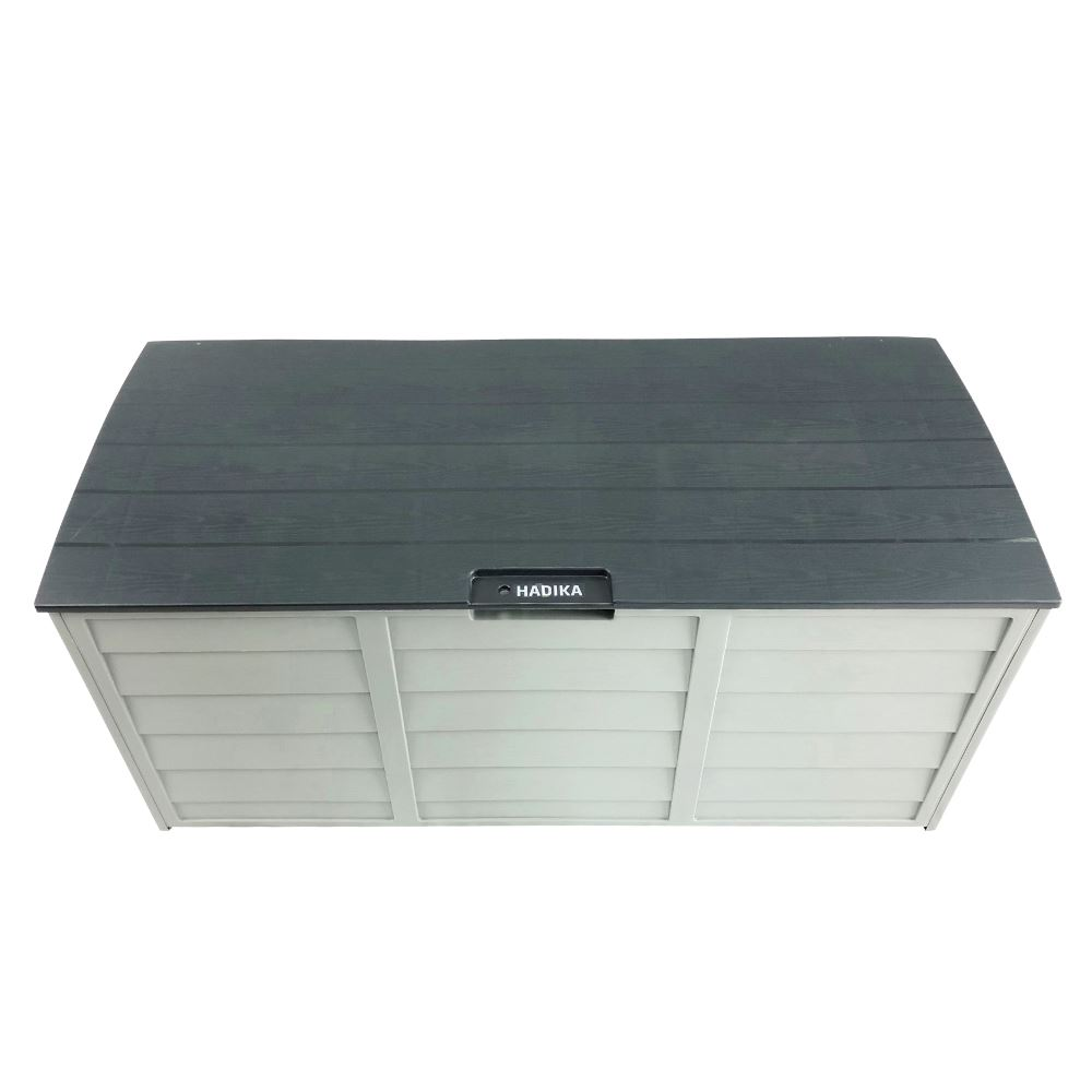 Grey Outdoor Storage Box 290l Large Capacity Waterproof Hadika