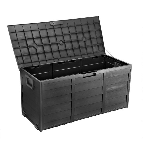 All Black HADIKA 290L Outdoor Storage Box