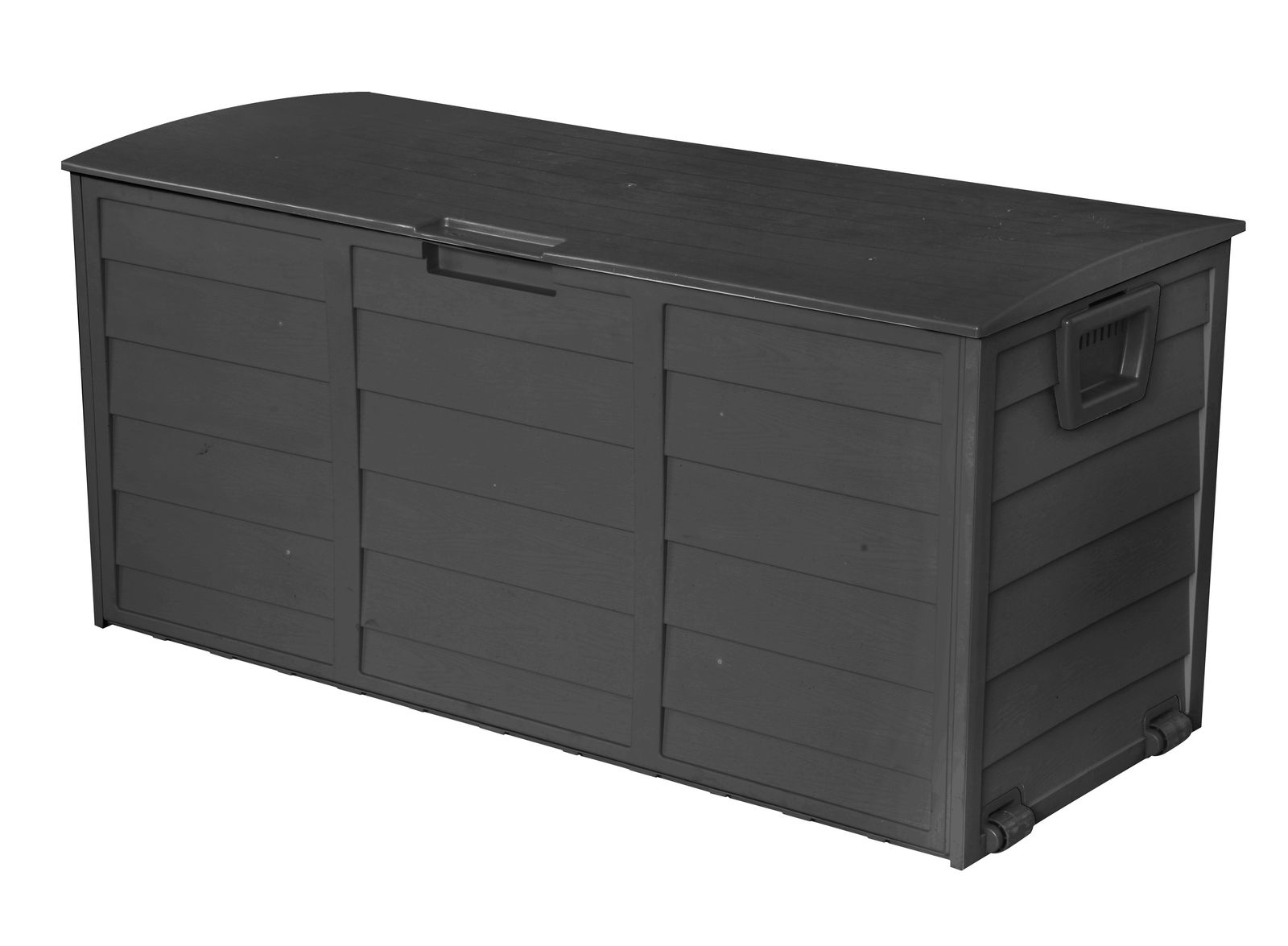 All Black Outdoor Storage Box 290l Large Capacity