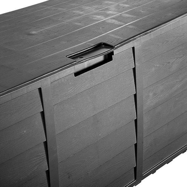 All Black HADIKA 290L Outdoor Storage Box