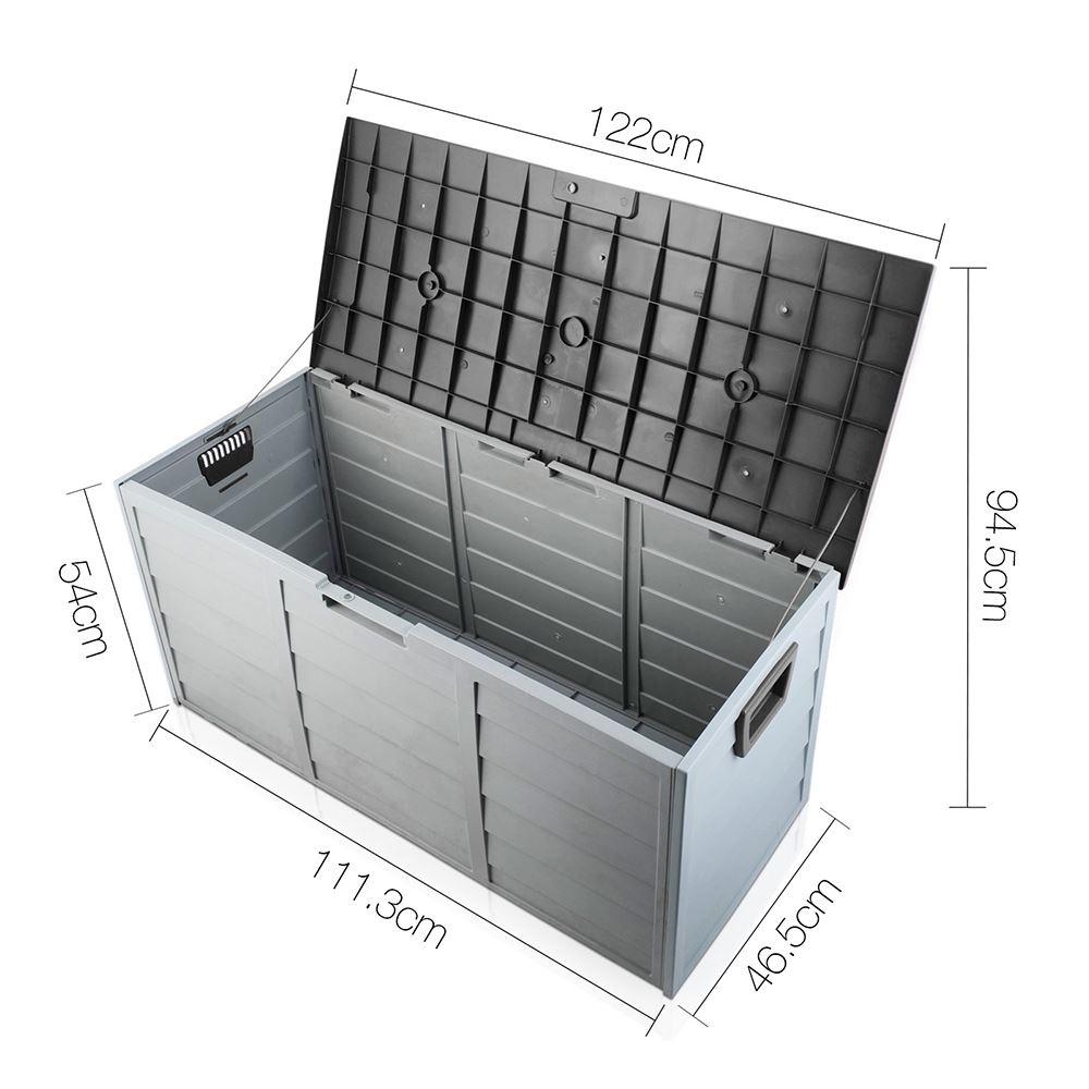 Black Outdoor Storage Box 290l Large Capacity