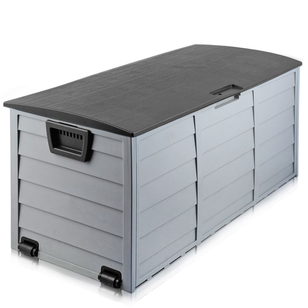 Black Outdoor Storage Box 290l Large Capacity