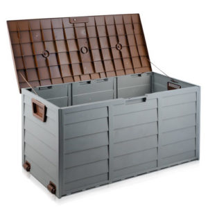 Brown Outdoor Storage Box | Space Saving, Movable and Lockable