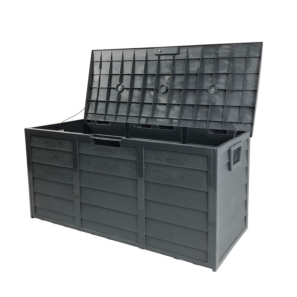 Dark Grey Waterproof Large Outdoor Storage Box 290 Litres Capacity