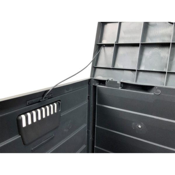 Dark Grey Outdoor Storage Box | Waterproof Storage Box