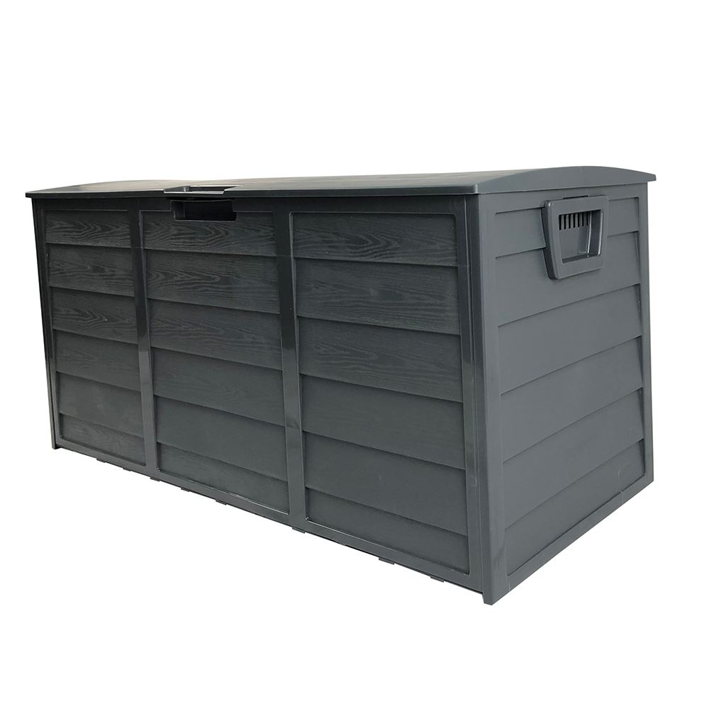 Dark Grey Waterproof Large Outdoor Storage Box 290