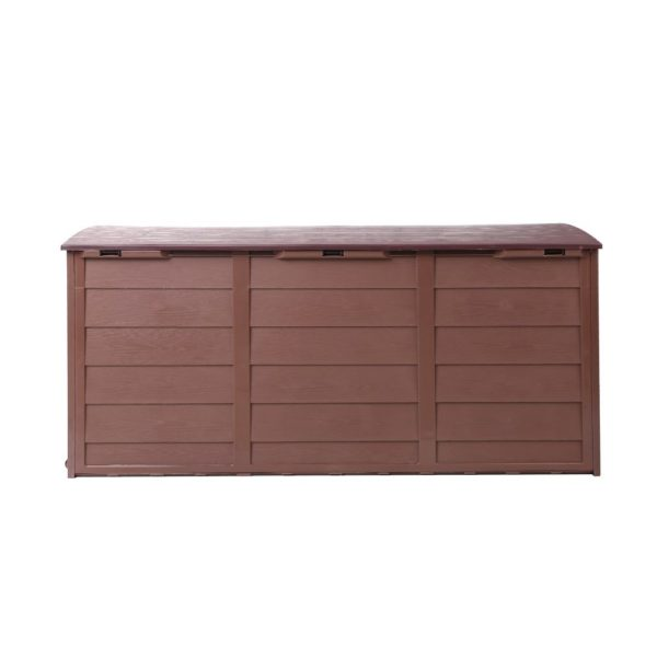 Outdoor Storage Box Lockable & Waterproof - Brown Colour