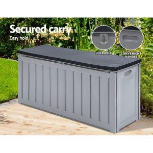 Outdoor Storage Box Bench Seat 240L Grey
