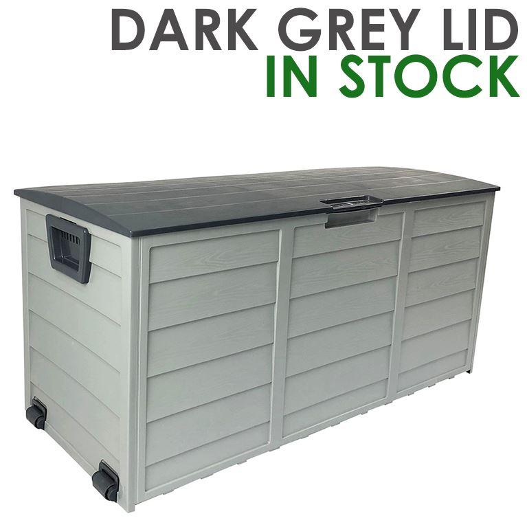 Outdoor Storage Box Lockable & Waterproof - Grey Colour