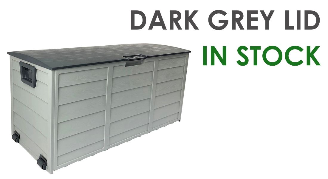Outdoor Storage Box Lockable & Waterproof - Grey Colour
