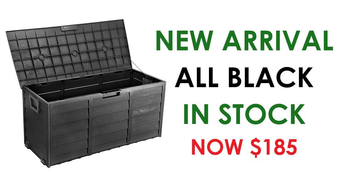 Outdoor Storage Box Lockable & Waterproof - All Black Colour