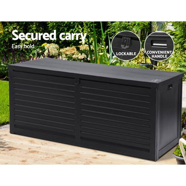 Large Outdoor Storage Box in All Black