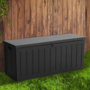 240L Outdoor Storage Box, Waterproof and large Capacity, Comes in All Black Colour